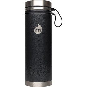 MIZU V7 Botella con aislamiento con Tapa en V 700ml, black hammer paint